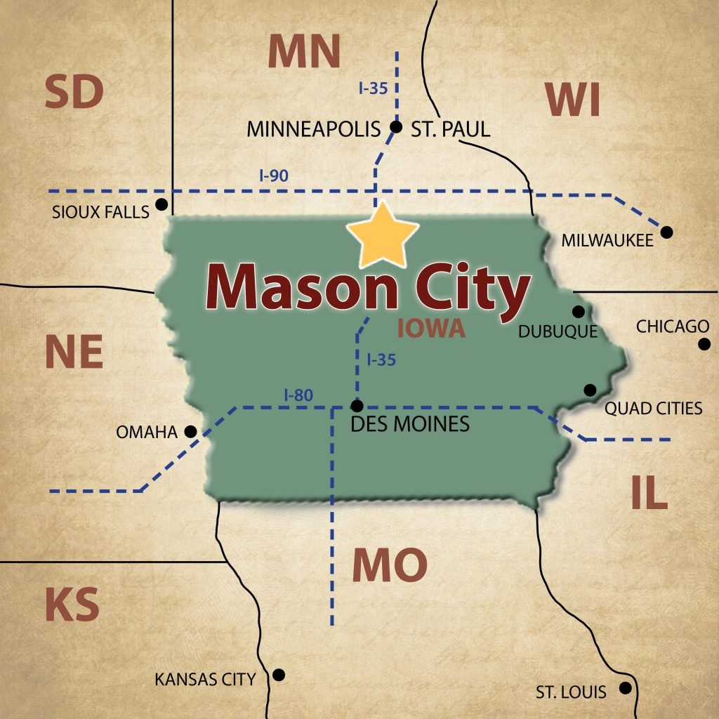 Iowa Map With Highways.Mason City Maps Visit Mason City