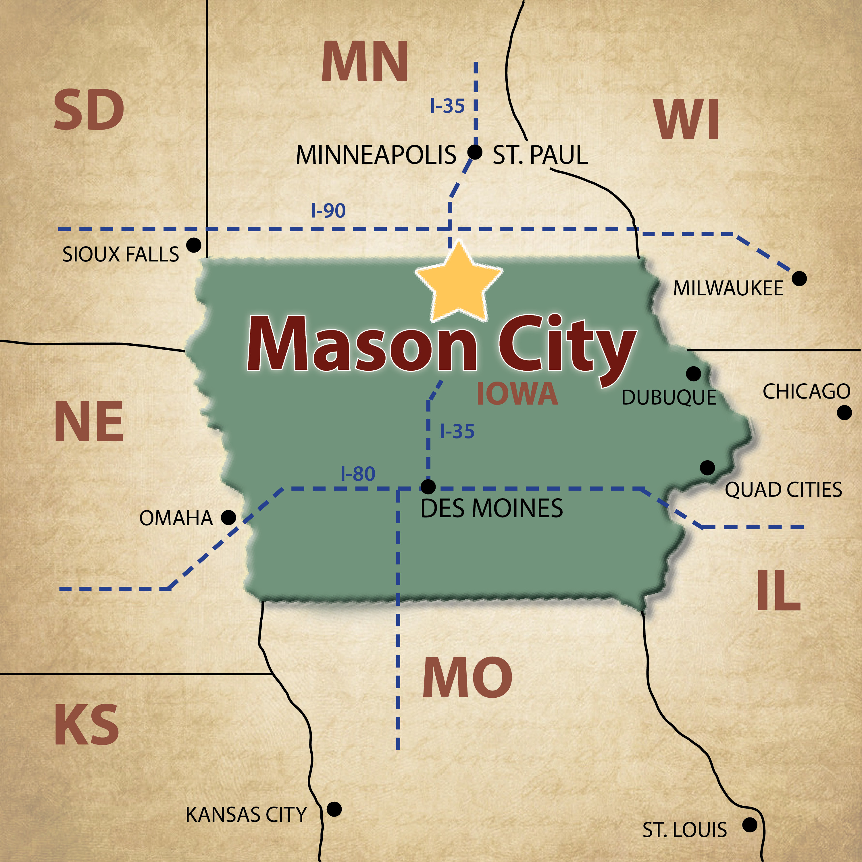 Mason City Maps - Visit Mason City on map of california coast lompoc, map of glendale cemetery des moines ia, map of des moines county iowa, des moines skywalk hotels,