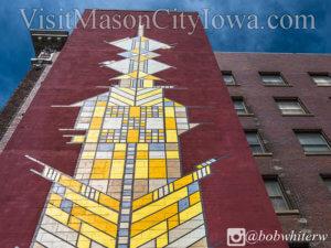 Frank Lloyd Wright Mural, Mason City, Iowa - Bob White Photography